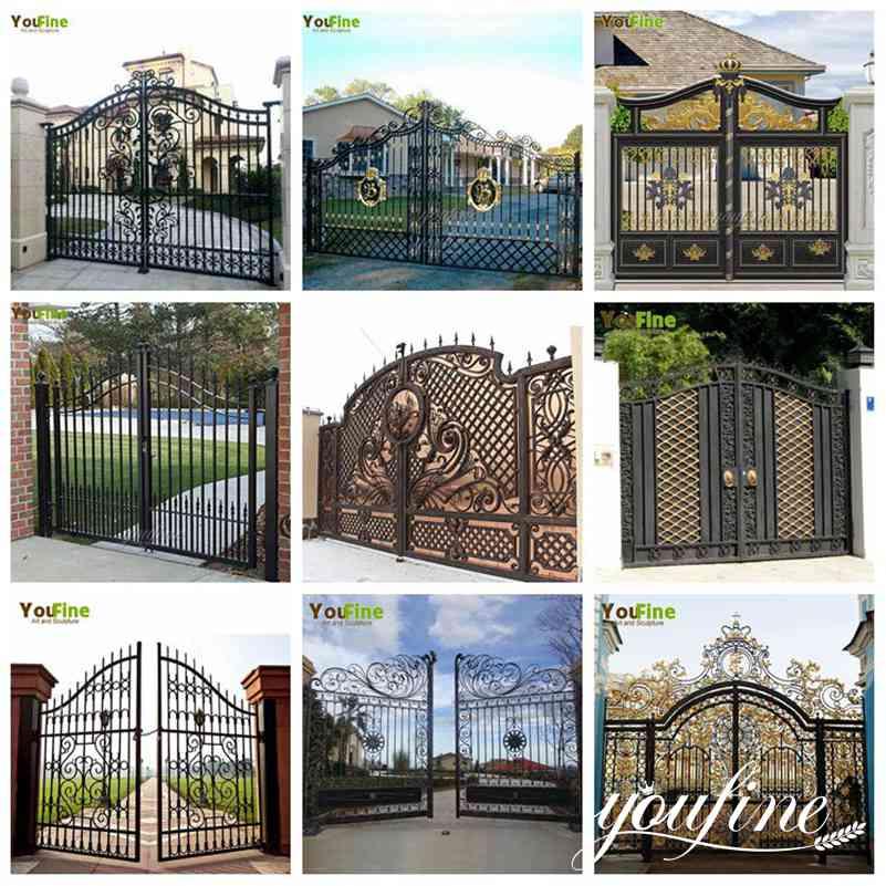 Modern House Wrought Iron Gate