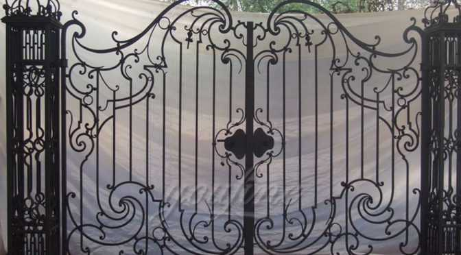 New Design Wrought Iron Main Gate