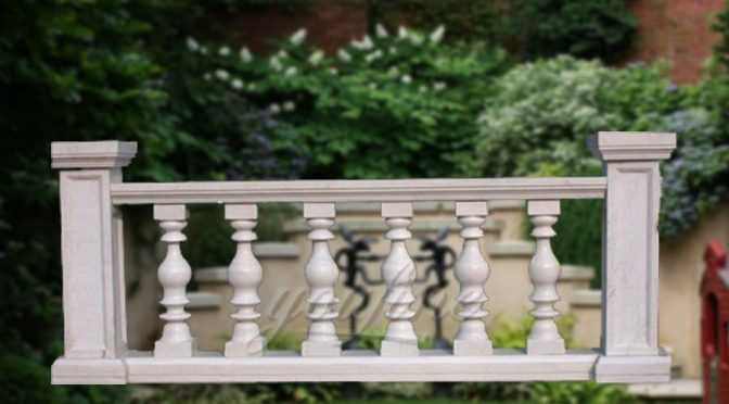 New design beige marble stone baluster railing on sale