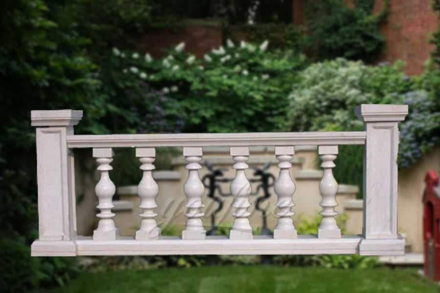 New Design Beige Marble Stone Baluster Railing On Sale
