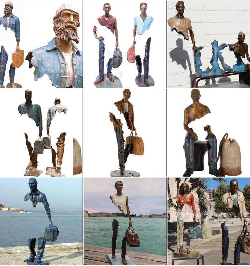 Outdoor Bruno Catalano replica Bronze Traveler Sculptures