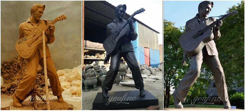 Outdoor Custom Life Size Famous Bronze Elvis Presley Statue