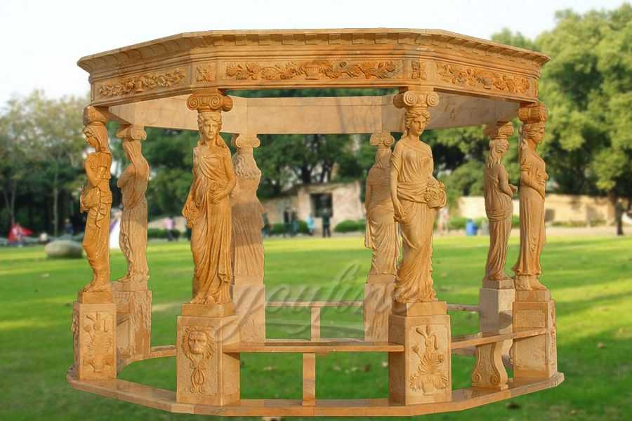Outdoor Garden garden decoration lady stone carving marble gazebo MGMS-01