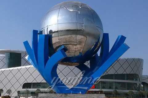 Outdoor-Popular-Metal-Sculpture-in-Stainless-Steel-for-Outdoor-Decoration-