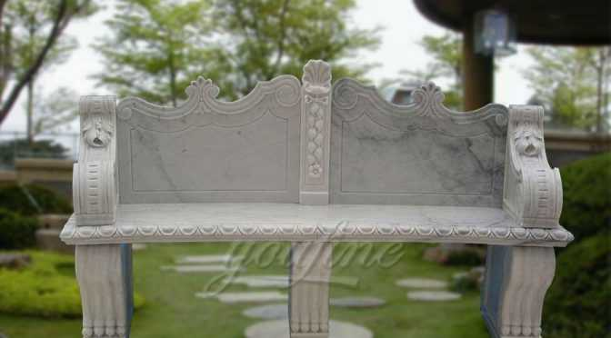 Outdoor antique marble bench for garden