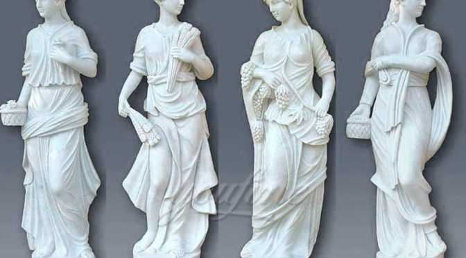 Hot sales decoration western marble statue of four season