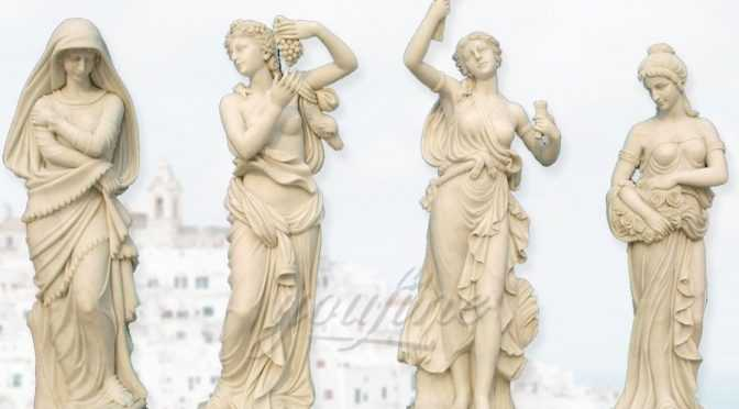 Outdoor custom four season marble statues for sales