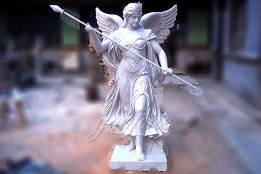 Outdoor marble angle garden statues for sale