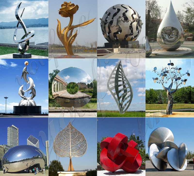 Public Art Stainless Steel Flower Sculpture
