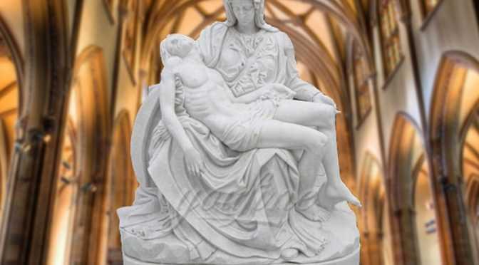 The World Famous Statue of White Marble Pieta Statue