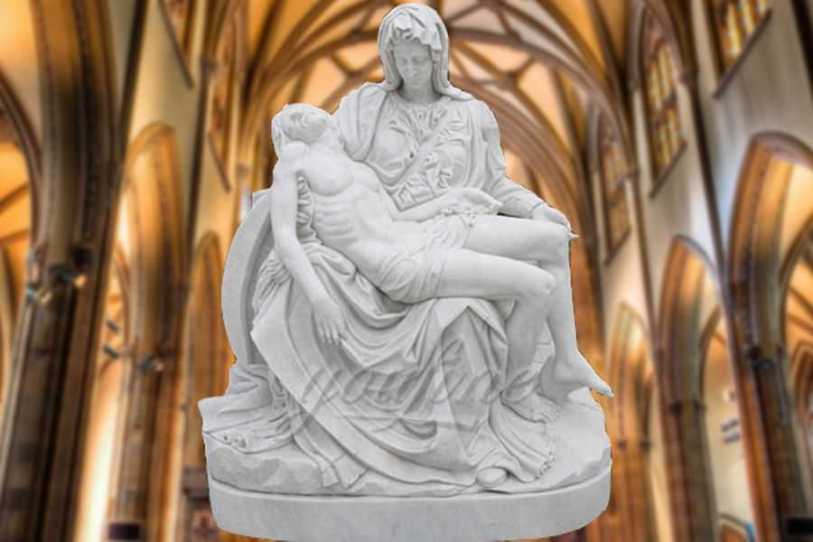Religion Theme Stone Virgin Mary Pieta Statues RSMS-01