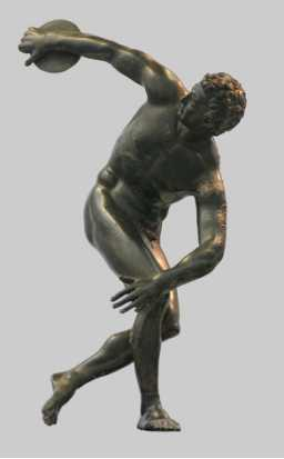 Roman Bronze Discobolus Sculpture for the United States Client