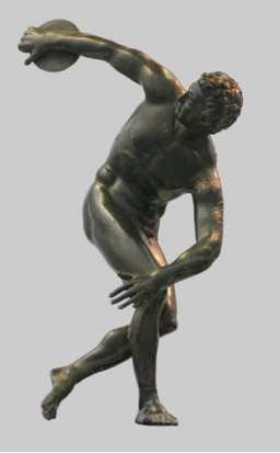 Roman Bronze Discobolus Sculpture