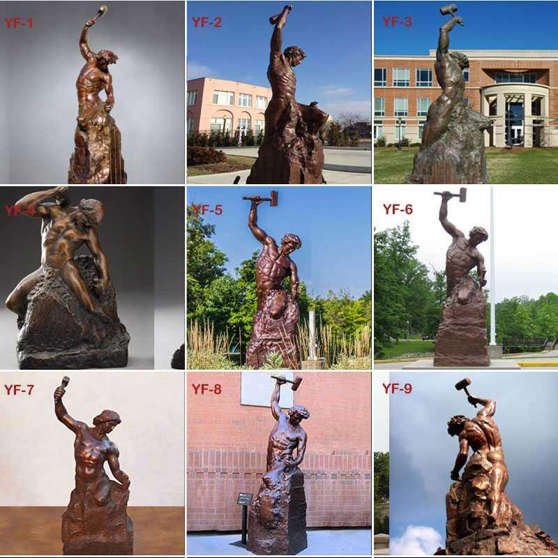Self made man bronze casting statues design
