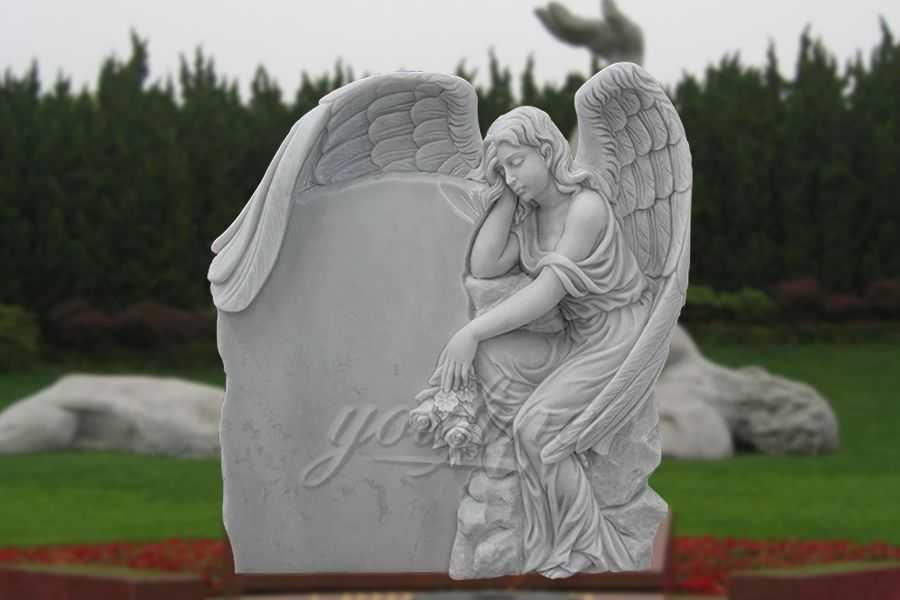 Sleeping-White-Angel-Marble-Headstone-for-Sale