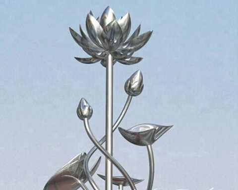 Stainless Steel Flower Sculpture for sale