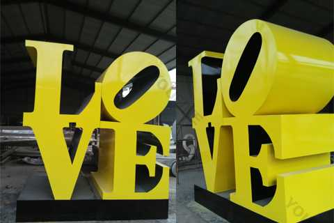Stainless steel sculpture love -1
