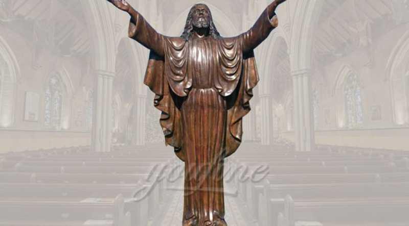 Standing Religious Sculpture Bronze Jesus Statues