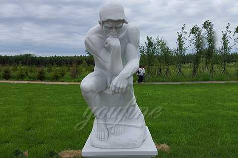 Western Full Size Marble Statue of the Thinker