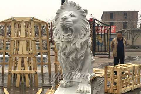 Western-stone-marble-large-roaring-lion-statue-for-sale