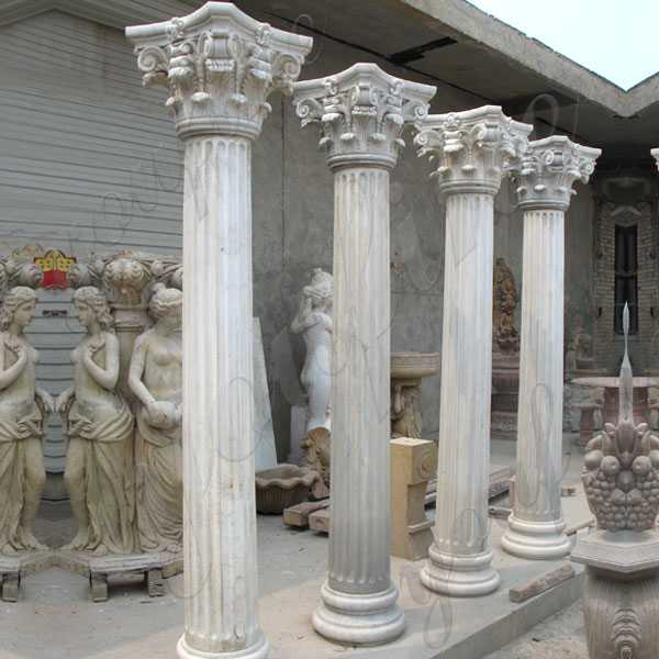Decorative Square Multi Color Marble Columns Indoor