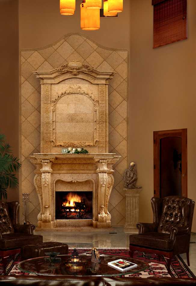 The Brief Introduction of the Stone Fireplace Mantel from China Supplier of Sculpture