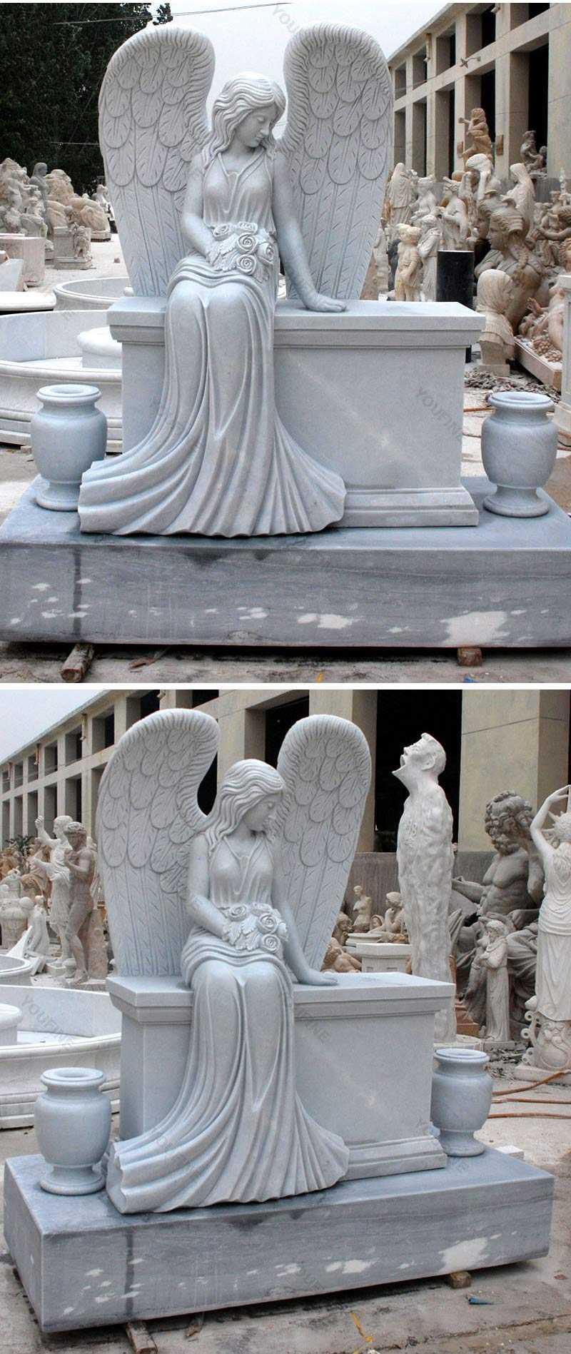 beautiful Beloved Angel Marble headstone for sale