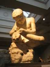The Famous Marble Statue-Boy with Thorn
