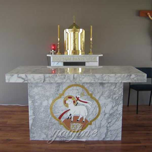 custom made life size white marble altar for sale
