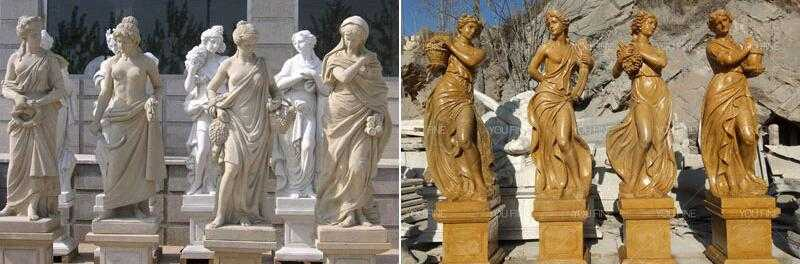 female statue graceful four season god ladies statue for sale