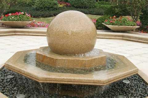 floating marble ball fountain for garden decor