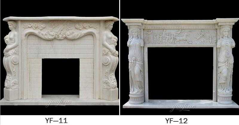 french fireplace mantels design for sale