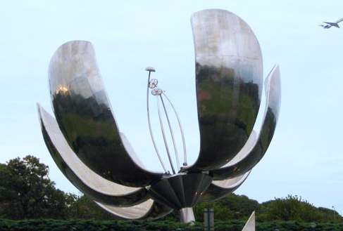 large Stainless Steel Flower Sculpture