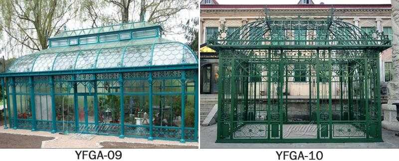 large greenhouse iron gazebo design for garden for sale
