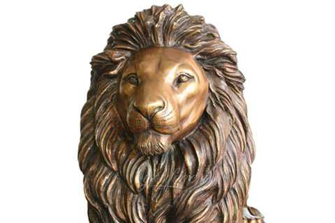 life size bronze lion statue for outside