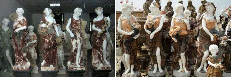 female statue graceful four season god ladies statue for sale