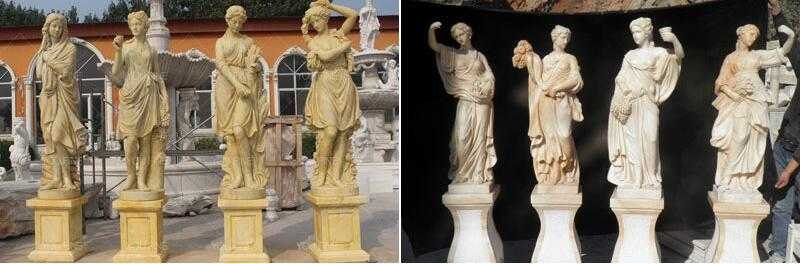 life size female statue graceful four season god ladies statue for sale