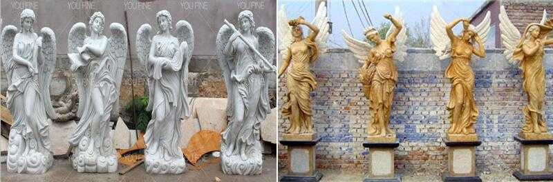 life size marble angel statue for sale