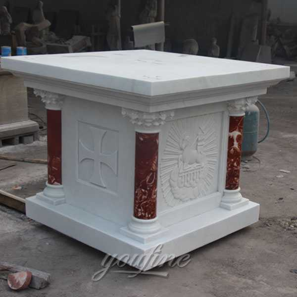 life size white marble altar for sale