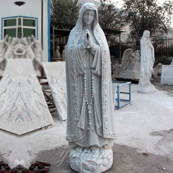 life size white marble fatima statue for sale