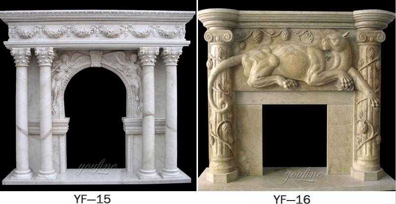 limestone fireplace surround for sale
