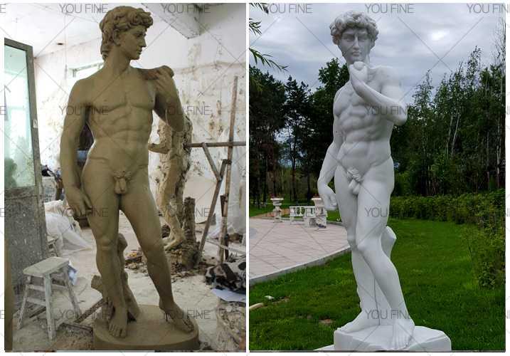 Famous marble David Sculpture statue
