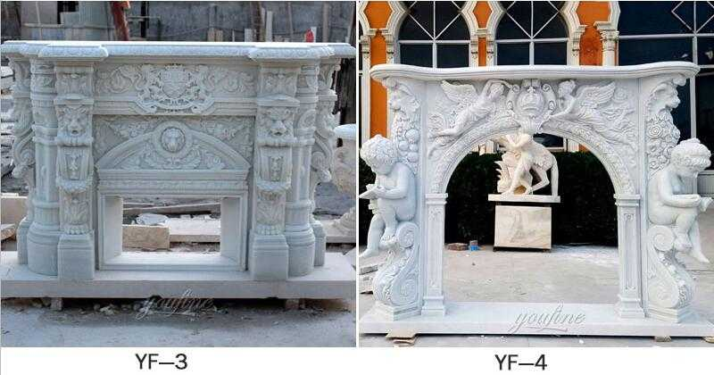marble fireplace mantel surround for sale