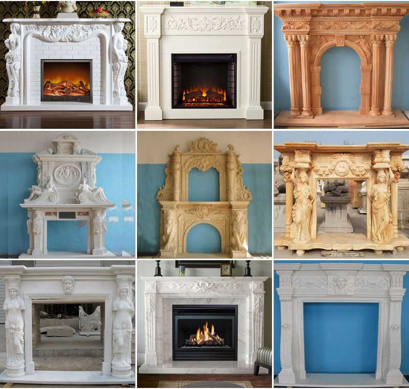 marble fireplace surrounmental-frame