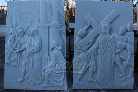 marble religious relief for sale