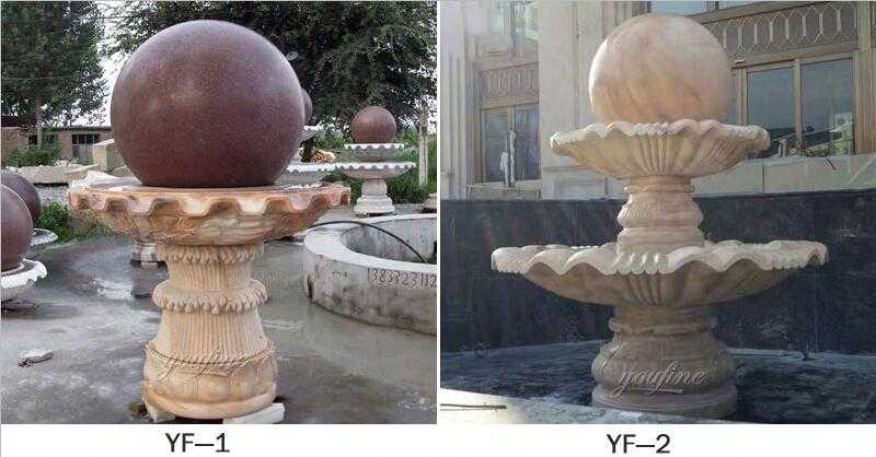 marble rolling sphere fountain for sale