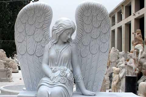 modern Beloved Angel Marble tombstone