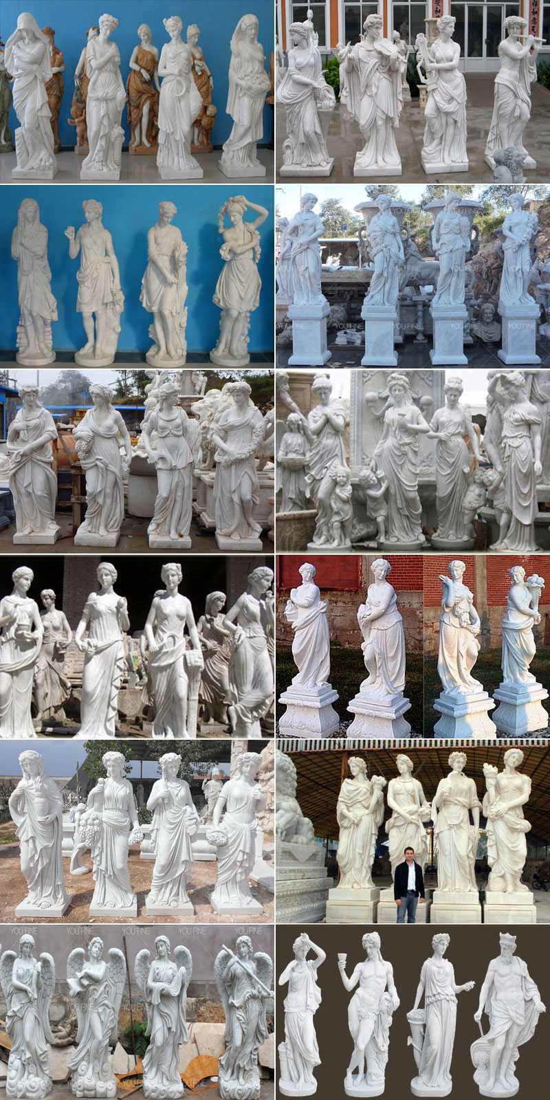 Hot sales decoration western marble statue of four season for 4 season decoration