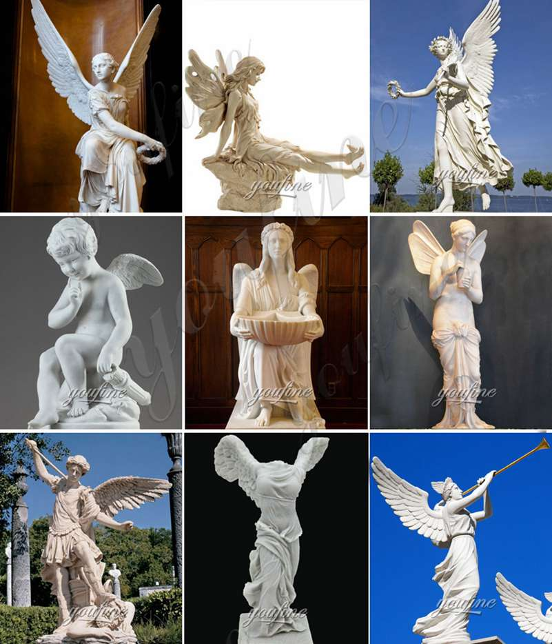 outdoor marble angel sculpture for sale