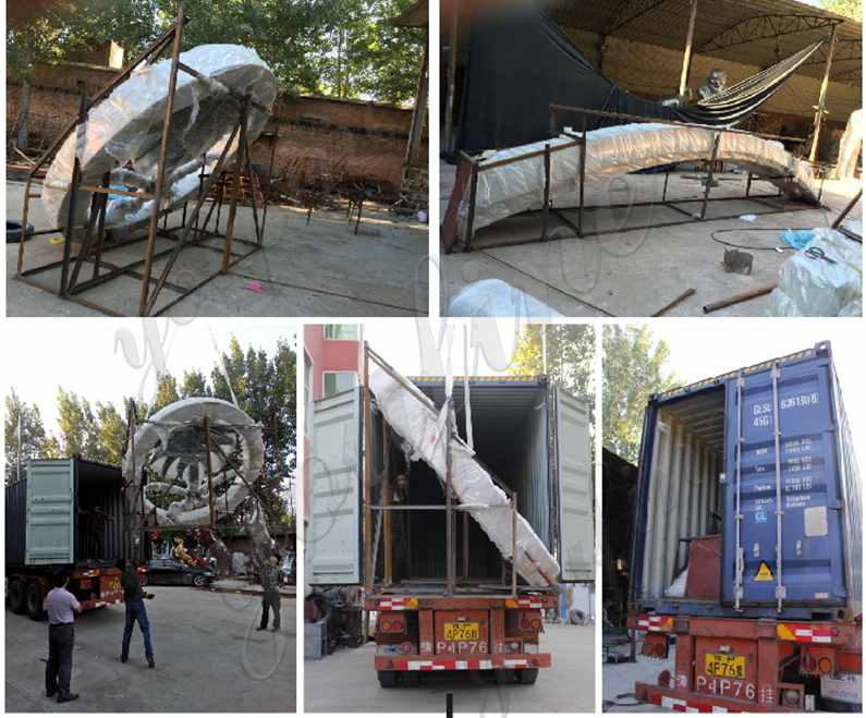 packing of Stainless Steel Flower Sculpture